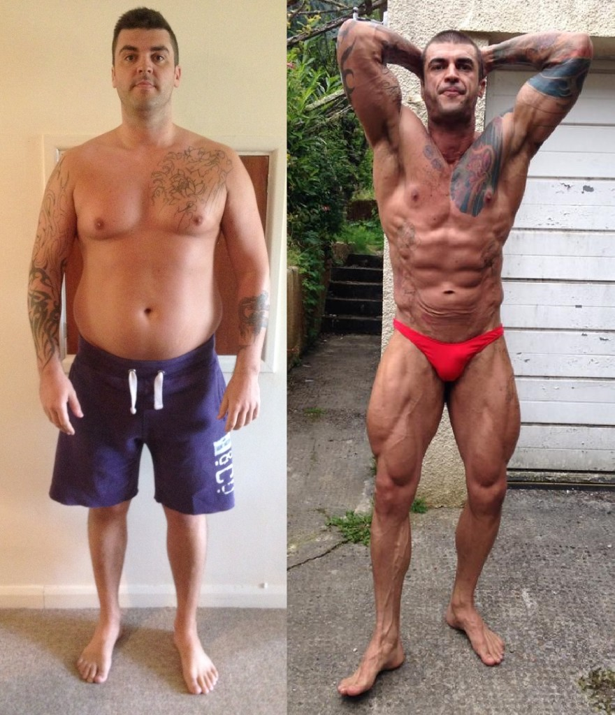 Before photo taken in 2012 and how Craig looks 3 weeks out