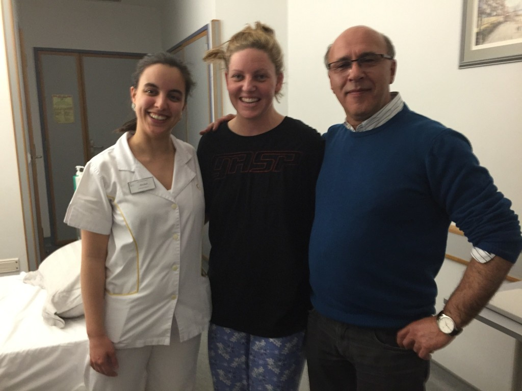 My incredible surgeon and one of my amazing nurses - yes my hair is a bit crazy!